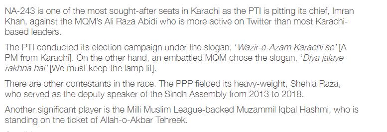 NA 243 Karachi Election 2018